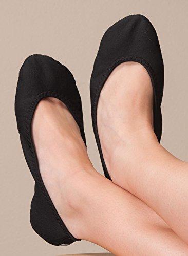 NuFoot Ballet Flats Womens Shoes, Best Foldable & Flexible Flats, Slipper Socks, Travel Slippers & Exercise Shoes, Dance Shoes, Yoga Socks, House Shoes, Indoor Slippers, Color Block, Medium