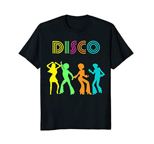 Mens 1970's Style Disco Dancers Dancing Retro Design T-Shirt XL Black