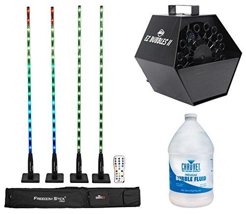 Chauvet FREEDOM STICK PACK w/  DMX Light Fixtures+Remote+