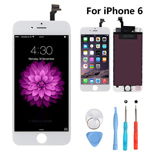 New Sign iPhone 6 4.7 Inch Screen Replacement LCD Digitizer Full Assembly Kit (iPhone 6 - White Digitizer