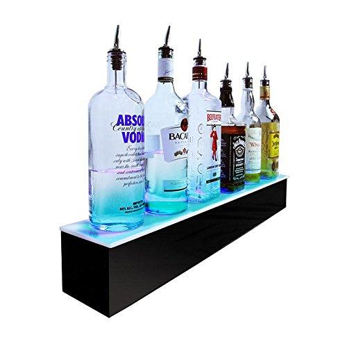 [BarConic LED Liquor Bottle Display Shelf - 1 Tier- Multi Colored Lights - Several Lengths … (30