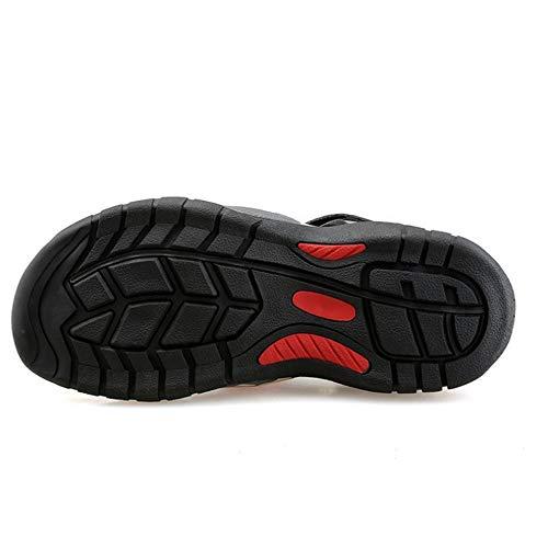 Giallo Rosso da spiaggia Wagsiyi Collisione Scarpe Da Dimensione Da EU Casual 40 Antiscivolo Uomo Scarpe Pelle Sandali In pantofole Uomo Colore Sandali Da gqSnBwxgfU