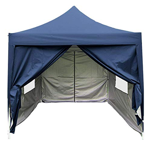 Quictent Privacy 8x8 EZ Pop up Canopy Tent Instant Folding Party Tent Waterproof 9.2ft Blue