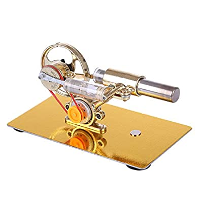 PeleusTech Stirling Engine Kit with Electric Generator - Hot Air Physics Science Kits Educational Model Toys: Toys & Games