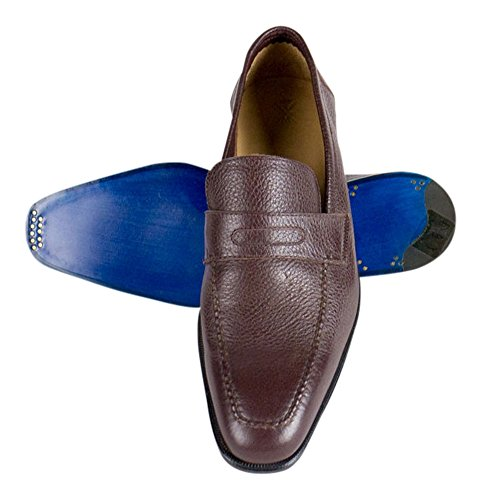 5899d84516fde Sutor Mantellassi Burgundy Leather Penny Loafers Shoes Size 12.5 U.S.