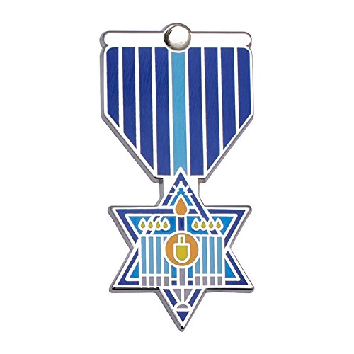 HANUKKAH Greeting Card & Gift (Lapel Pin / Necklace Charm) Holiday Thank You Note by Merit Medals