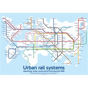 Urban Rail Systems Map Poster: Amazon.co.uk: Kitchen & Home