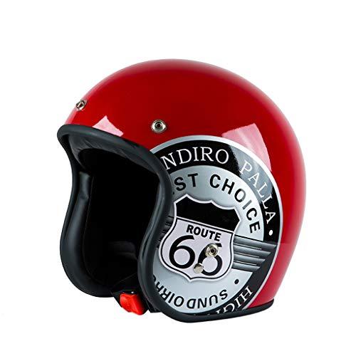 Motocicleta Retro Harley Casco Casco de Coche eléctrico Hombres y Mujeres Four Seasons Personalidad Casco de Coche de...