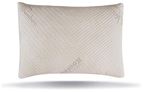 Snuggle-Pedic USA Made Ultra-Luxury Adjustable Bamboo Shredded Memory Foam Pillow with Zipper...