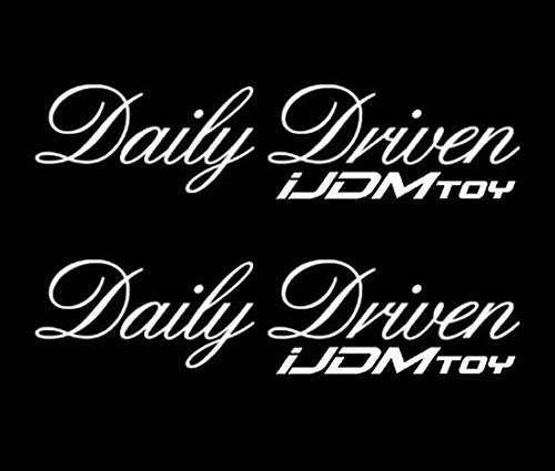 Pack Of 2  Ijdmtoy 7  Daily Driven Jdm Stancenation Sortaflash Nation Drift Racing Car Window Bumper Die Cut Vinyl Deacals Stickers