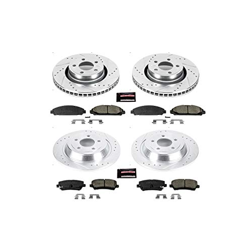 - Power Stop K6808 Front & Rear Brake Kit with Drilled/Slotted Brake Rotors and Z23 Evolution Ceramic Brake Pads
