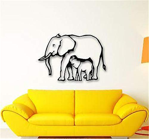 dinita Quote Mirror Decal Quotes Vinyl Wall Decals Elephant Baby Animal Nice Room ()