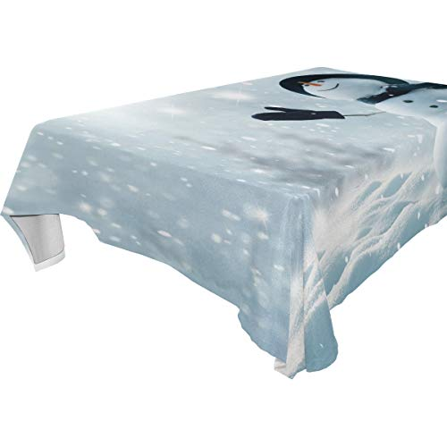 Table Cloth Sky Snow Rectangle/Oblong Polyester Tablecloth Washable Table Cover for Dinner Picnic, Buffet Table, Parties