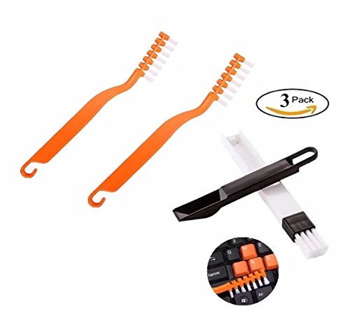 Keyboard Brush Soft Electronic Deep Cleaning Brush Removes Dust from Fans Motherboards, Vents, Multi-purpose Window Door Track Cleaning Brush with Anti Scratch - Of Get Scratches Rid