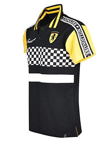 SCREENSHOTBRAND-PK11801 Mens Hipster Hip-Hop Premium Tees - Stylish Sport Fashion Racing Color Block Print Polo T-Shirt - ()