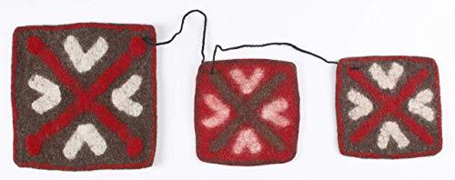 (Felt Potholder: Trivet Hot Pad Heat Resistant Table Mat, Coaster & Countertop Protector for Hot Dishes - Set of 3)