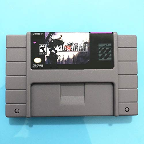 Value-Smart-Toys - Final Fantasy 6 (battery saved) USA Version 16 bit Big Gray Game Card For NTSC Game Player