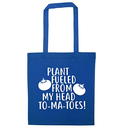 toes fueled Plant my to Creative head Bag Blue Flox ma from Tote YTqTda