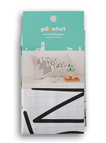 Pillowfort Standard Pillow Sham - I'm Not Tired'' - 20'' x 26''