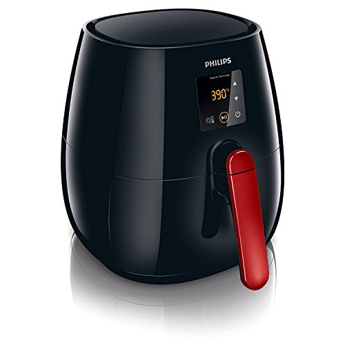 Philips Viva Collection HD9230 Digital Airfryer Oven - Black with Red Handle by Philips