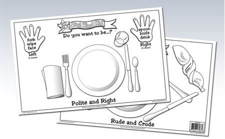 Cool Kind Kid Laminated Placemat - Polite and Rude Placemat for Preschool Ages