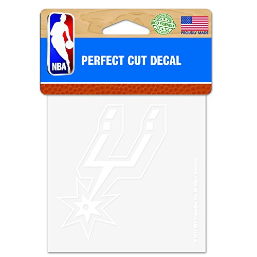 (WinCraft NBA San Antonio Spurs 4x4 Perfect Cut White Decal, One Size, Team Color)