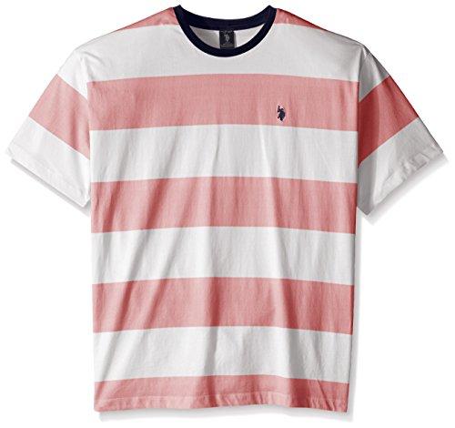 U.S. Polo Assn. Men's Big-Tall Wide Stripe Crew Neck T-Shirt