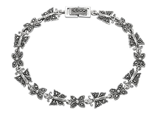 Wild Things Sterling Silver Marcasite 7.5