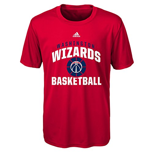 fan products of NBA Rep Big Performance Short Sleeve Tee-Red-S(8), Washington Wizards