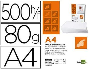Liderpapel 64198 - Pack de 500 hojas de papel, A4, color blanco: Amazon.es: Oficina y papelería