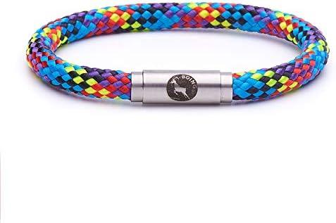 Boings - Pulsera unisex de cuerda de escalada duradera con cierres magnéticos para hombres y mujeres que aman el aire libre y la moda.