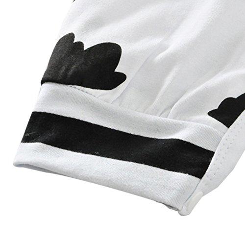 Weixinbuy Baby Boy Girl Clouds Pattern Cotton Romper Bodysuit Jumpsuit Playsuit