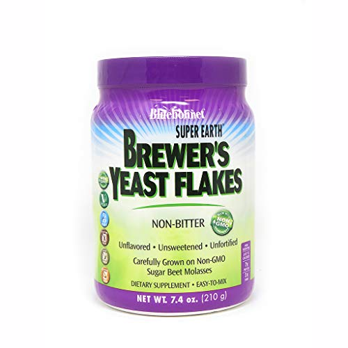 - Bluebonnet Nutrition Super Earth Brewer's Yeast Flakes, 7.4 Ounce