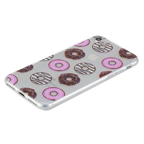 Beiuns pour Apple iPhone 7 (4,7 pouces) Coque en Silicone TPU Housse Coque - HX522 Donuts