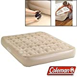 Coleman Extra High Queen Airbed Includes Portable 4D Battery Pump, Outdoor Stuffs
