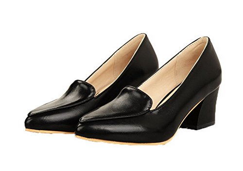 Femme Fermeture Noir Chaussures d'orteil Moolarmi à Tire Légeres Talon Correct Sqfxdpwz