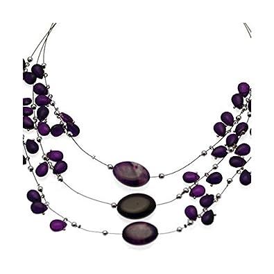 669479cdc84f Amazon.com  Lilith Silver tone Purple Choker Necklace  Jewelry