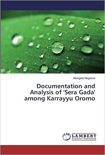 Amazon com: Documentation and Analysis of 'Sera Gada' among