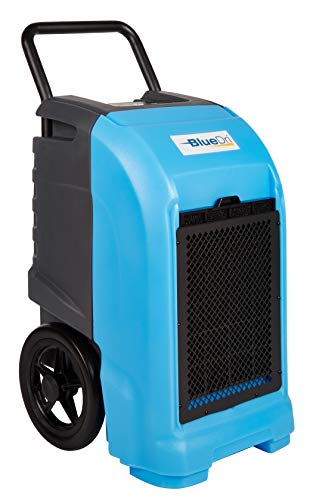 BlueDri BD-76 Industrial Commercial Grade Large Dehumidifier for Home, Basements, Garages, and Job Sites - 76 AHAM/150 Saturation PPD, Blue (Dehumidifier Commercial)