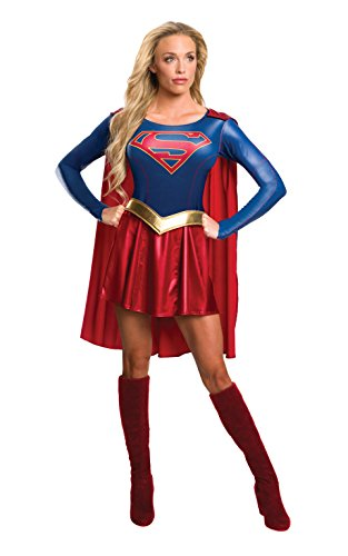 Television Show Halloween Costumes (Rubie's Women's Supergirl TV Show Costume Dress, Multi, Large)