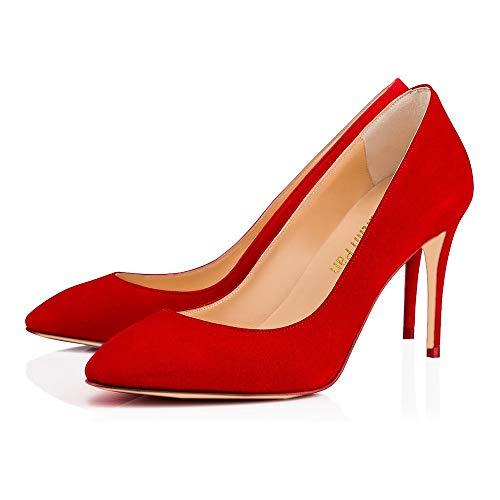 Pan Vestito Rosso B0tt0m Pompe Sexy Camoscio Rosso Punta 85 Punta Tacchi Donne punta Delle Alti A Noi Stiletto on Scarpe 5 Millimetri Di Caitlin Slip 14 0BfqaSwq