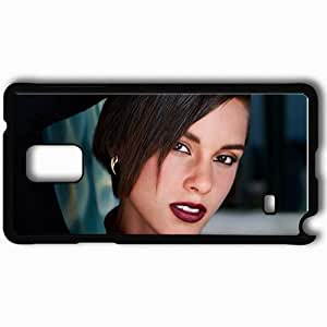 Personalized Samsung Note 4 Cell phone Case/Cover Skin Alicia Keys Makeup Face Look Hair Black