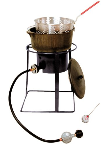 King Kooker 1650 16-Inch Outdoor Propane Burner with Cast Iron Dutch Oven for this list of coolest camp Dutch oven accessories
