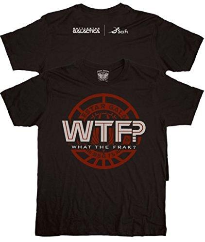 Battlestar Galactica WTF? What the Frack? Black T-shirt Tee (XXL)