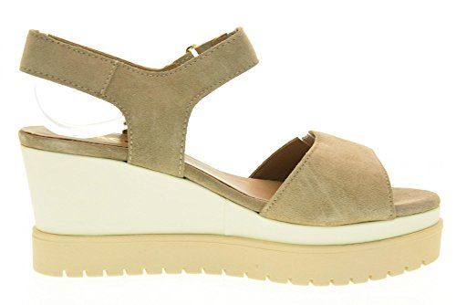 IGI&CO Las sandalias de las mujeres zapatos con cuña 78662/00 pelo de visón