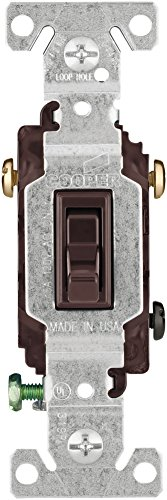 , 120-Volt Standard Grade Single Pole Framed Toggle AC Quiet Switch, Brown (Ac Quiet Toggle Switch)