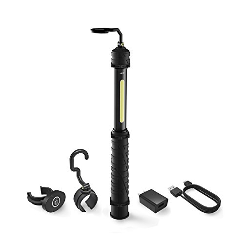 (Neiko 40339A Cordless Work Light, 700 Lumen COB LED Technology | Rechargeable USB Type Battery | Includes Swivel Hook and Magnetic Clip Attachments)