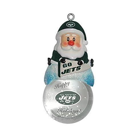 NFL New York Jets Snow Globe Ornament - Santa Nfl New York Jets