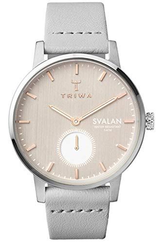 Triwa svalan Womens Analog Japanese Quartz Watch with Leather Bracelet SVST102SS