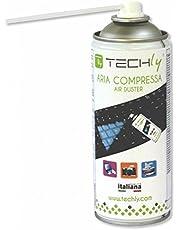 Techly 021666 Bomboletta Aria Compressa Spray di Pulizia 400ml